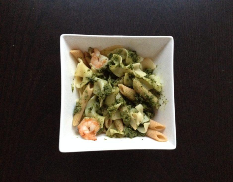 Cashew Pesto with shrimp