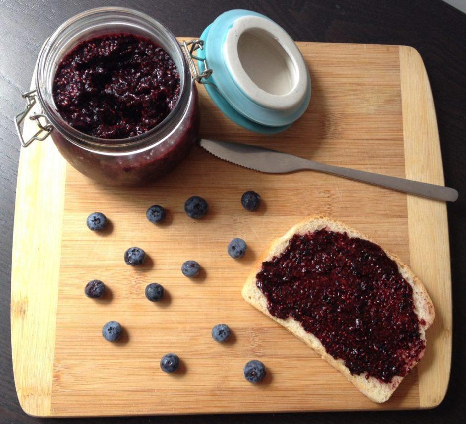 Blueberry Honey Chia Jam