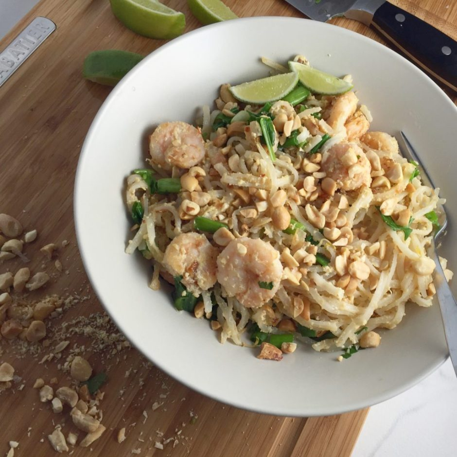 healthy pad thai from sunbasket