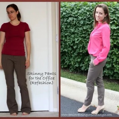 Skinny Pants @ The Office ~ Business Casual Refashion