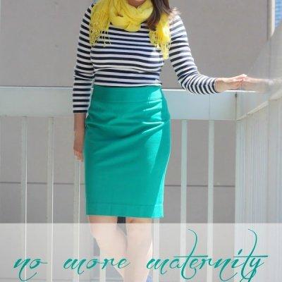 Maternity to Non-Maternity Shirt Refashion ~ Tutorial