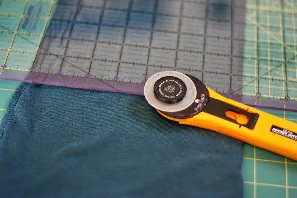 #DIY maxi dress #refashion #tutorial - rotary cutter and cutting mat - www.honestlymodern.com