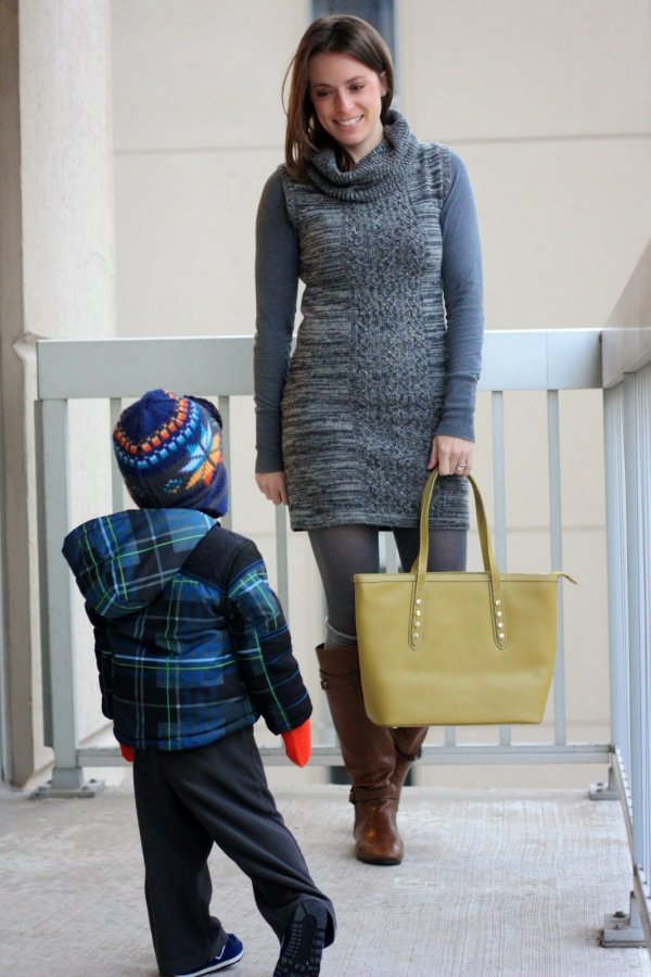 FashionablyEmployed.com | Toddler son photo bombing style blogger photo shoot, too cute
