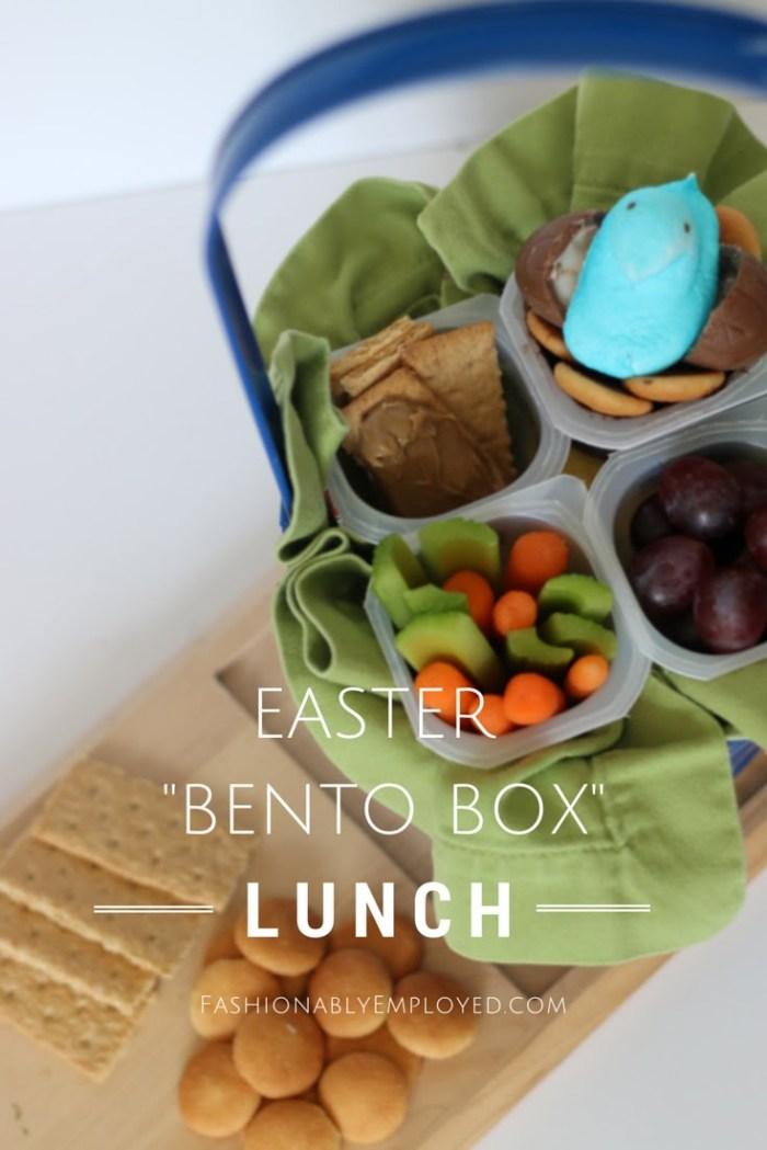 FashionablyEmployed.com | Easter Basket Bento Box Lunch