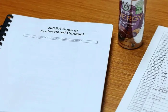 reading the AICPA code of conduct