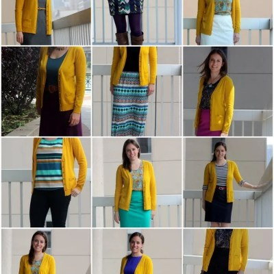 18 Ideas to Remix a Bright Colored Cardigan