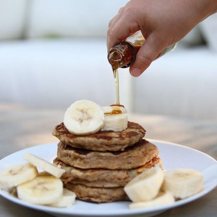 Whole Wheat Banana Spice Pancakes