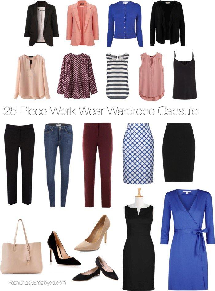 25 Piece Work Wear Wardrobe Capsule