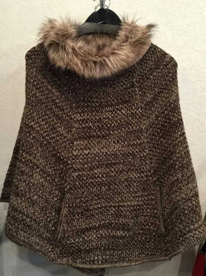 Fur Lined Poncho