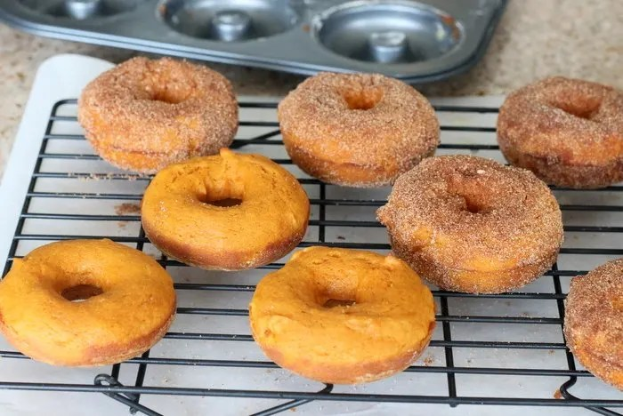 FashionablyEmployed.com | Easy Baked Pumpkin Donut with Cinnamon and Sugar, breakfast, dessert, recipe