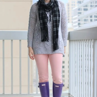 Gray and Pink for Winter