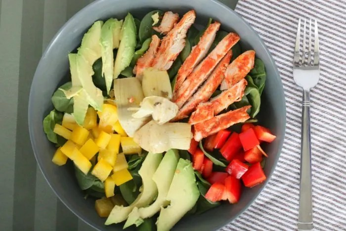 Buffalo Chicken Salad: Need a quick, easy and healthy lunch idea? This can be prepared over the weekend and thrown together in a few minutes to satisfy the whole family.