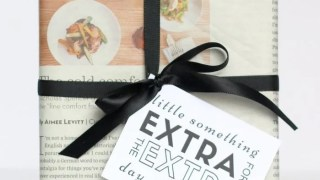 Need a quick 5 minute gift wrapping idea with supplies you probably have on hand? Check out this quick and easy gift wrapping idea, especially perfect for Leap Year!   FashionablyEmployed.com