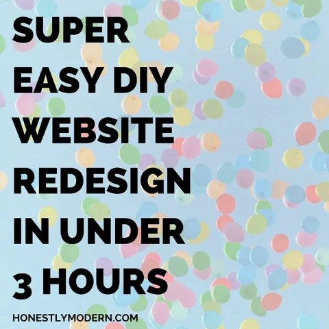 Ready for a blog redesign but don't have endless time or the funds to hire a designer? Check out this affordable DIY redesign completed in under 3 hours.