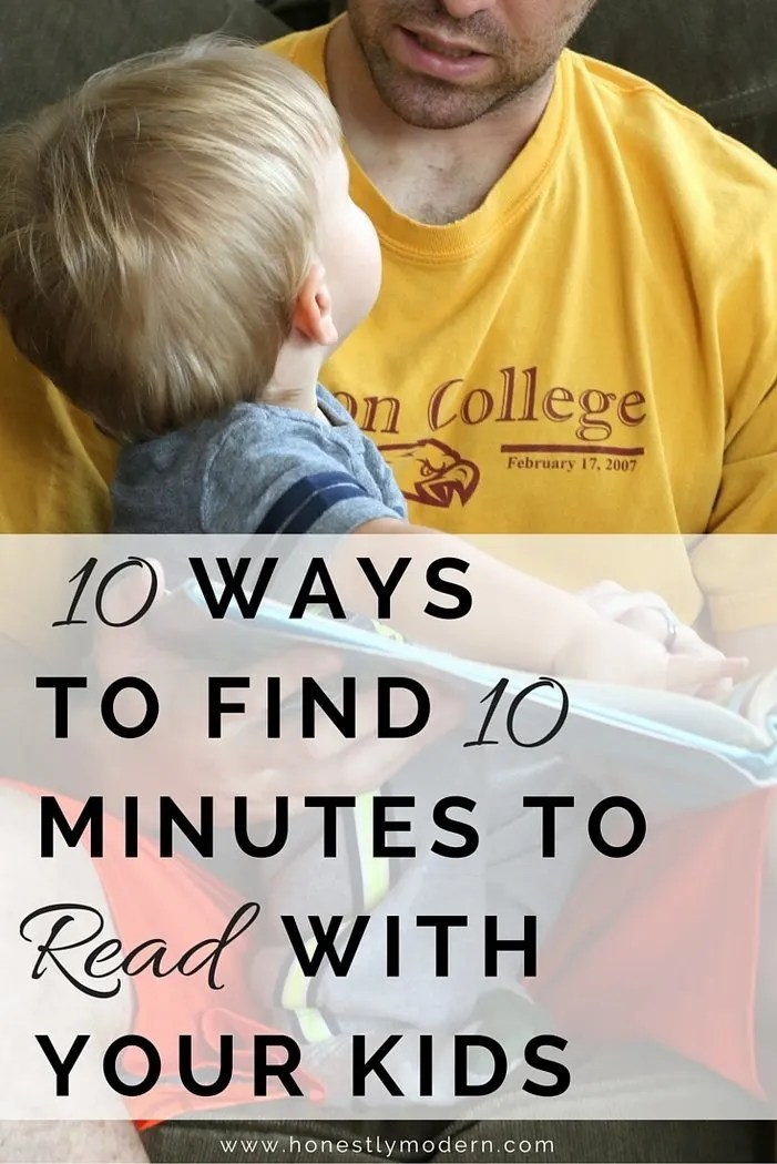 Time flies by, especially when the kids are young. Make the most of quality time together cuddling up and reading with your kids. Check out these 10 ways to find 10 minutes to read to your kids and start snuggling today!
