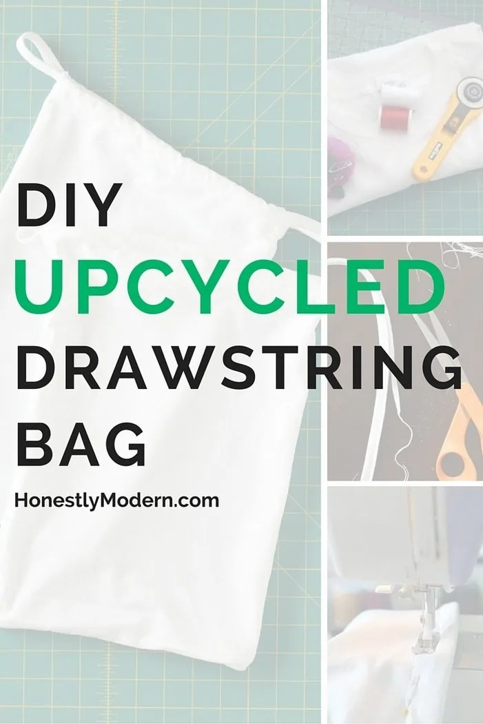 Got an extra t-shirt that needs a new life? This super easy DIY project shows you how to upcycle that shirt into a great new drawstring bag that you can use for so many things! Click through to check out the step-by-step instructions that even the most beginner sewist can complete.