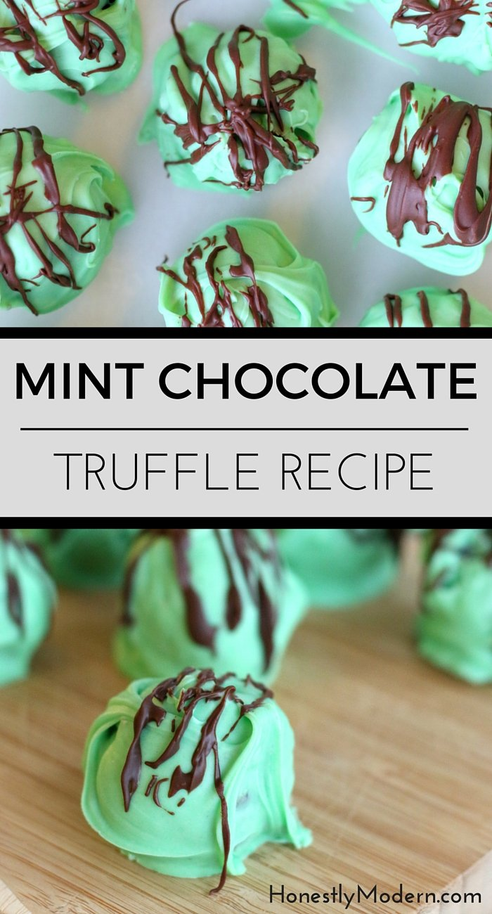 Want a quick and easy dessert that looks MUCH fancier than it really is? Try these simple mint chocolate truffles with just a handful of everyday ingredients. Even your kids can get their hands dirty! Click through to see the recipe and find out just how easy and tasty they are!