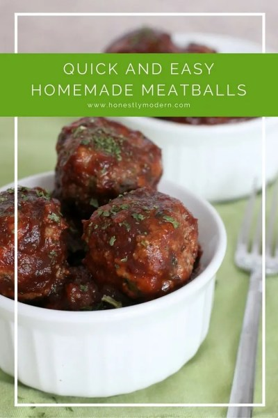 For a quick and easy make ahead meal idea, check out these homemade meatballs. They're simple and make getting a healthy meal on the table during the week super simple. Click through the for the recipe.
