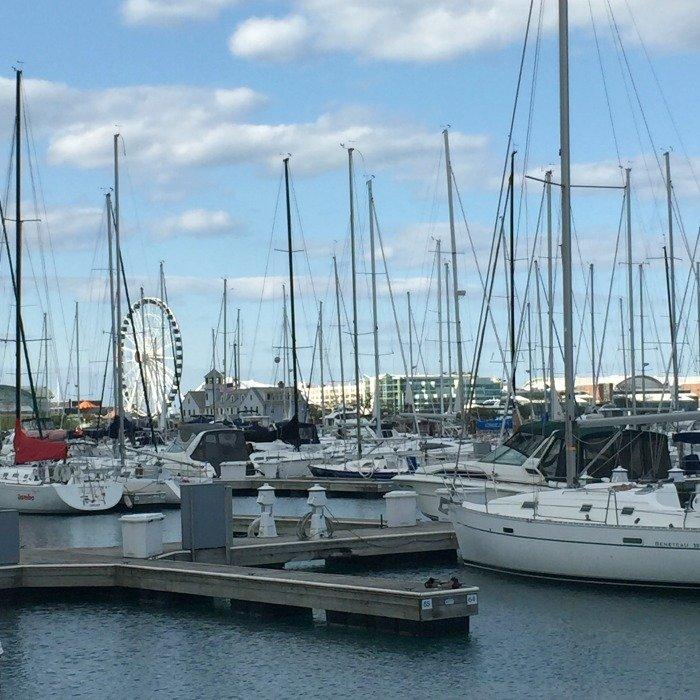 Boats in the Marina on Lake Michigan