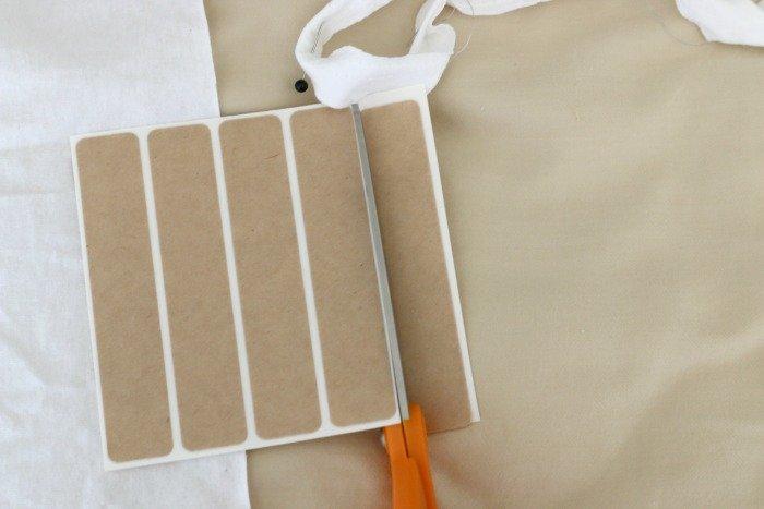 cutting strip of bonding tape