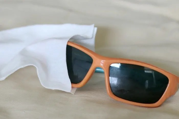 sunglasses in DIY case