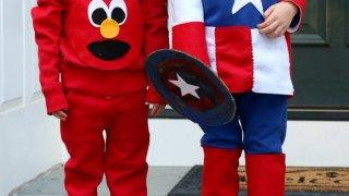 Easy DIY Sustainable Elmo and Captain American Costume Tutorials