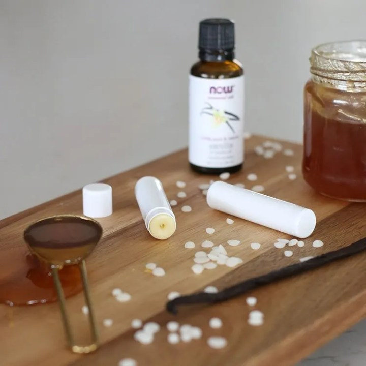 DIY lip balm with 4 steps and easy enough for kids to help make