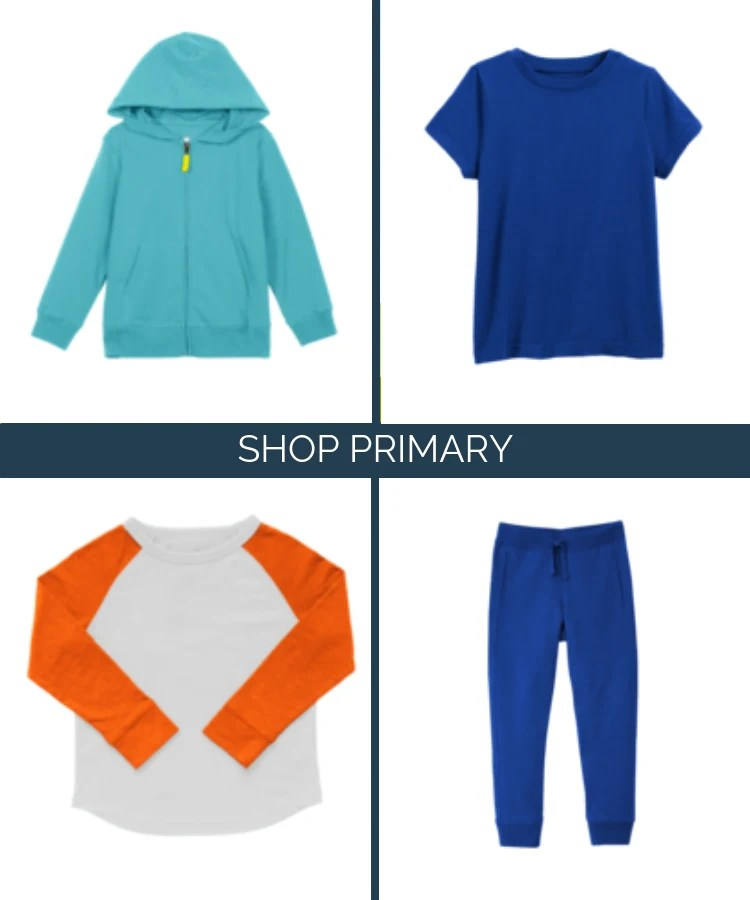 Primary sustainable kids clothing