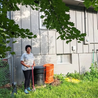 How To Compost At Home   Compost In A Trash Bin & Laundry Hamper