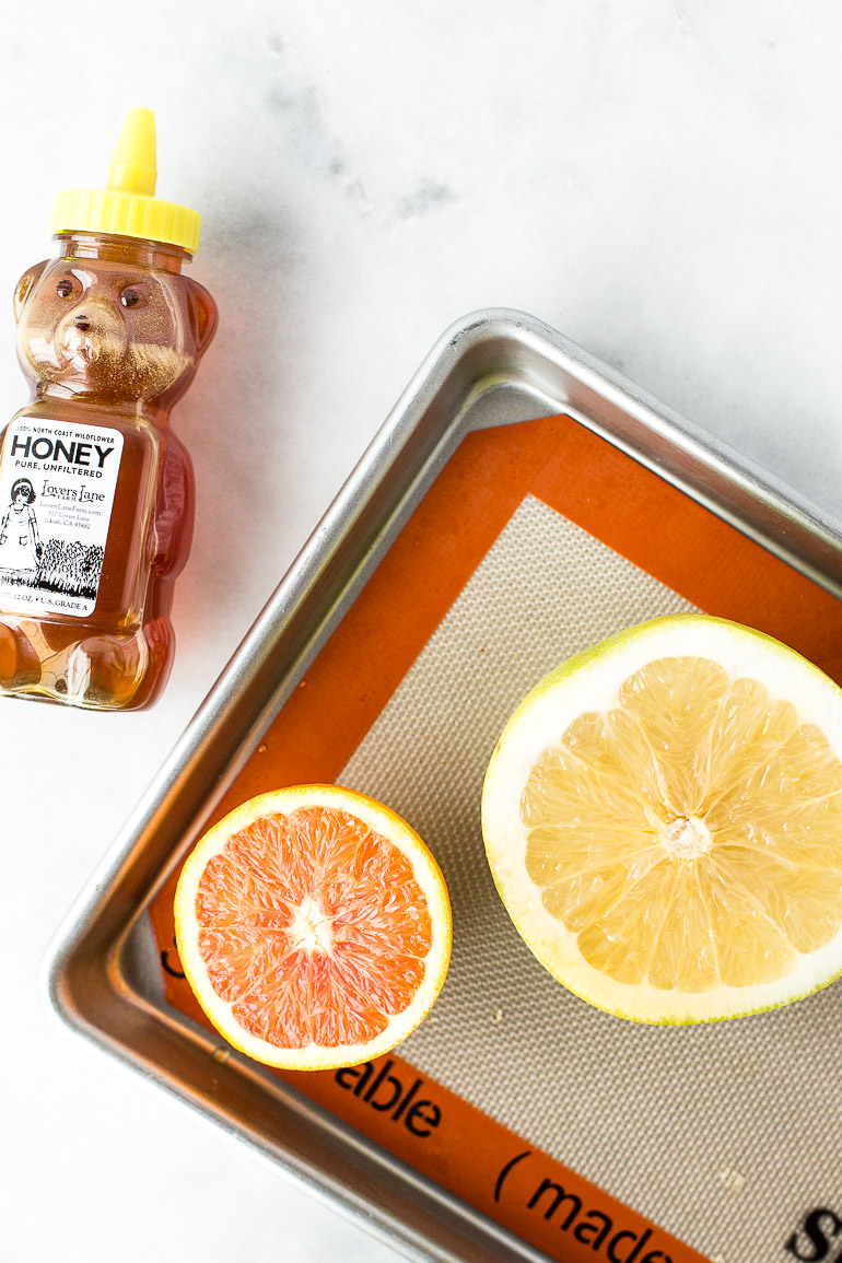 Learn how to broil grapefruit with this simple recipe that elevates and brightens the tart flavors of a favorite winter citrus fruit. | via Honestly Nourished