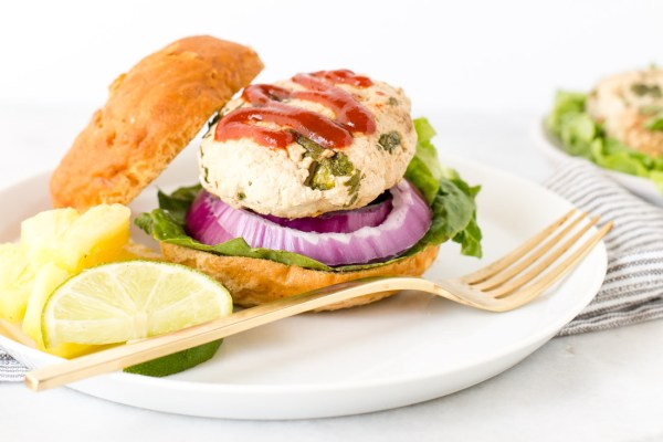 Thai-Spiced Pineapple Turkey Burgers