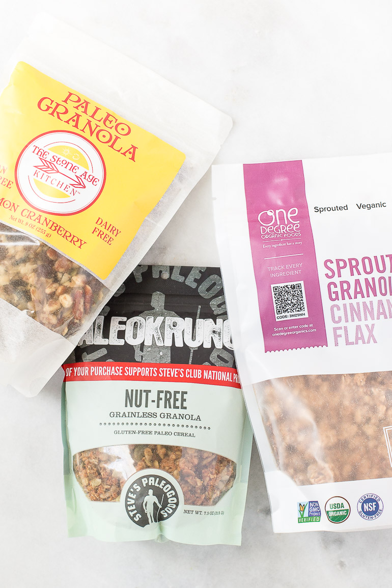 Three dietitian-approved readymade granola brands that are made with wholesome ingredients and no refined sugars. The perfect fuel to energize you and satisfy your snack attacks! | via Honestly Nourished