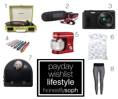 Payday Wishlist Lifestyle - March