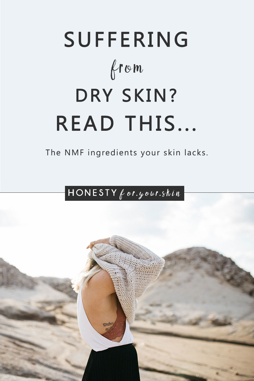 Dry skin - it makes foundation look like ice frosting, it causes you to scratch itchy skin patches in a very non-sexy way and lastly it's sensitive - it causes stingy sensations that make you wonder if an invisible wasp visited your face for a very quick nibble. No wonder you want to get rid of it. A very effective strategy for treating your dry skin is to use skincare with ingredients identical to ones found in your skins natural moisturizing factor. Not sure what that is? I've got your back -> http://wp.me/p6LuQS-1pG