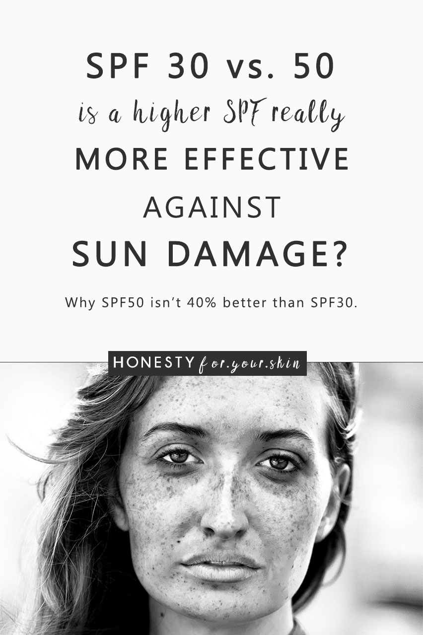 SPF 50 can be a task master to rub in 'eh. Sunscreen is the cheapest anti-ageing cream available, so making it easy to use every day is very important. Why buy an SPF 50 you're going to find 102 excuses not to use, which brings us to the question: SPF 30 vs. 50 - is the 20 point jump up in SPF really worth it? Will SPF 50 give you a whopping 40% more sun protection than SPF 30?