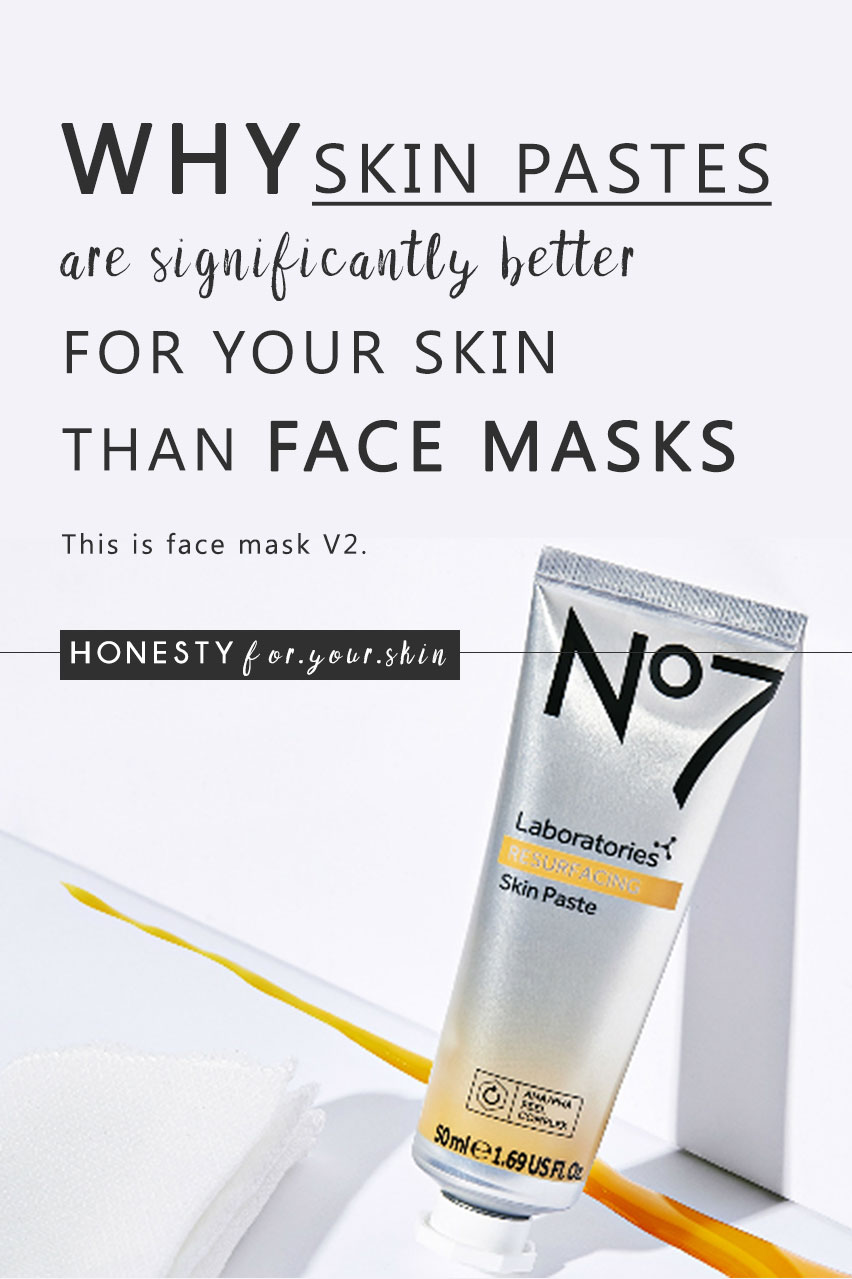 Should you be switching your face mask for a just launched No7 laboratories skin paste? How does a skin paste even work? What's the difference between a skin paste and a skin mask? Come find out all in this science of skincare No7 Laboratories Skin Paste review.