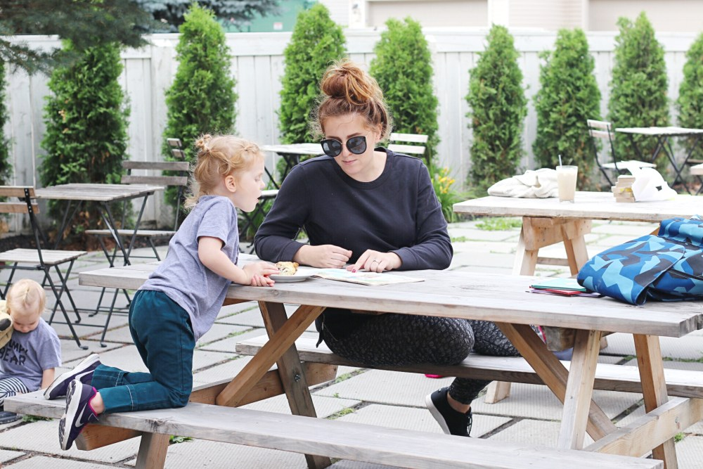 Young moms teaching their preschoolers to read