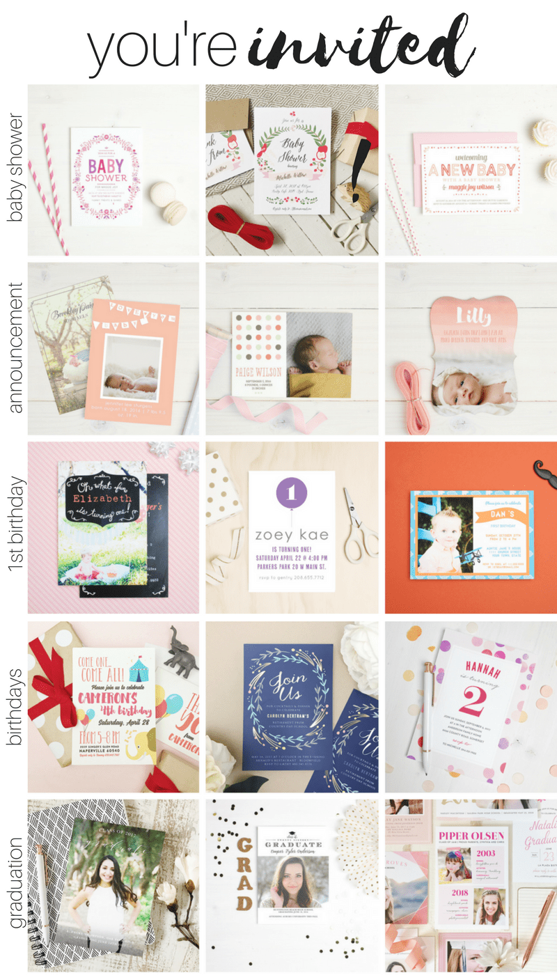 There are even cuter ways to send printed party invitations now, using Basic Invite you can make any invitation custom to what you want!