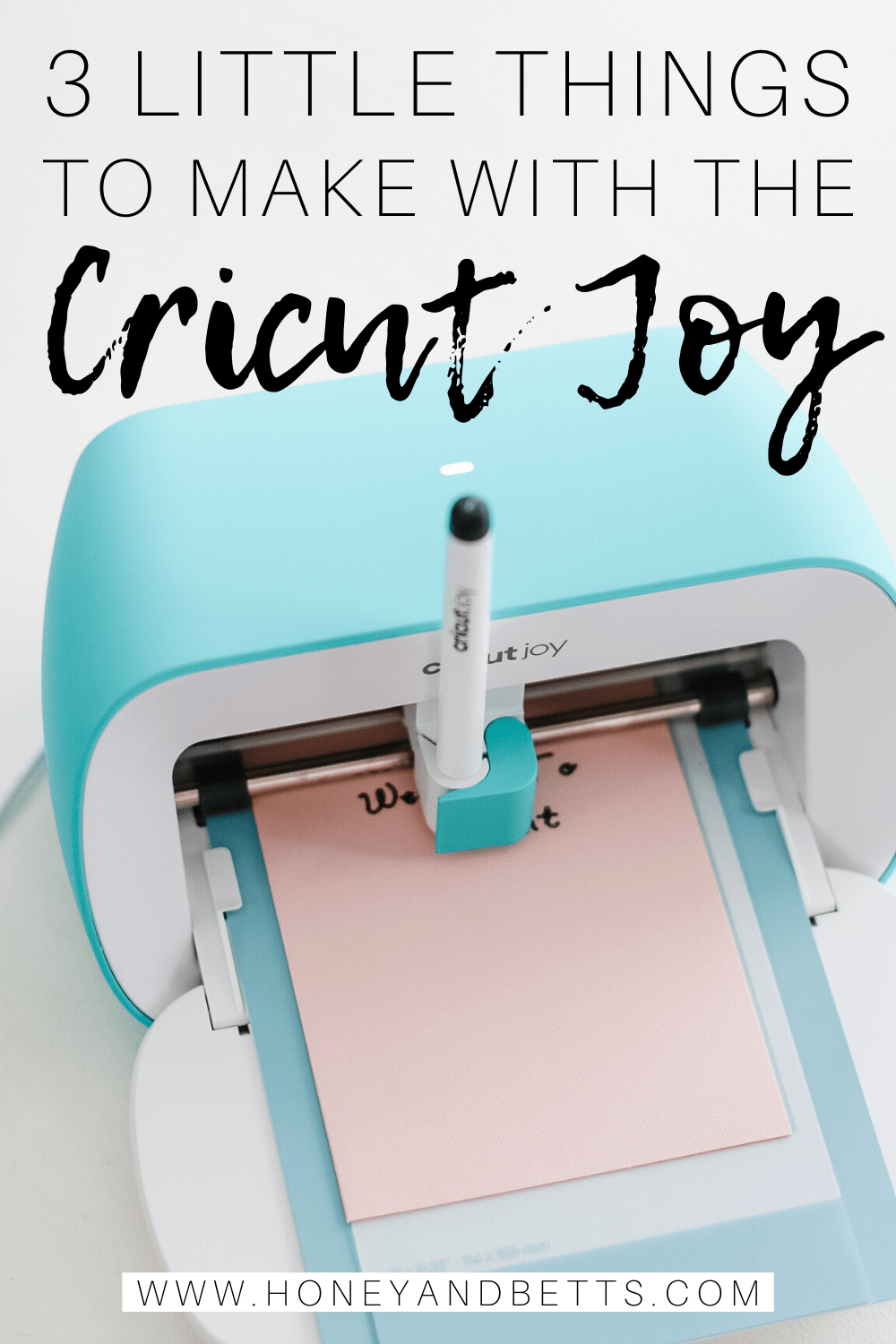 Cricut Joy is the perfect companion to quickly and easily personalize anything with one cut and one color, in 15 minutes or less. It is fun, functional, and simple to use. Practical, everyday projects have never been more accessible or easier!