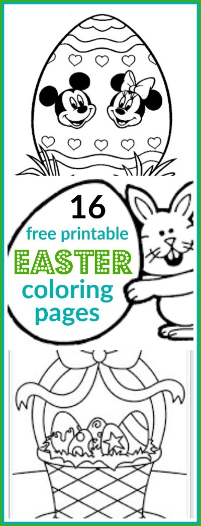 16 Super Cute And FREE Easter Printable Coloring Pages For Kids!