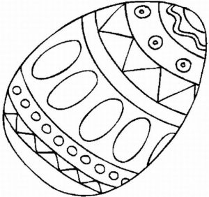 Decorated egg Easter coloring pages for kids