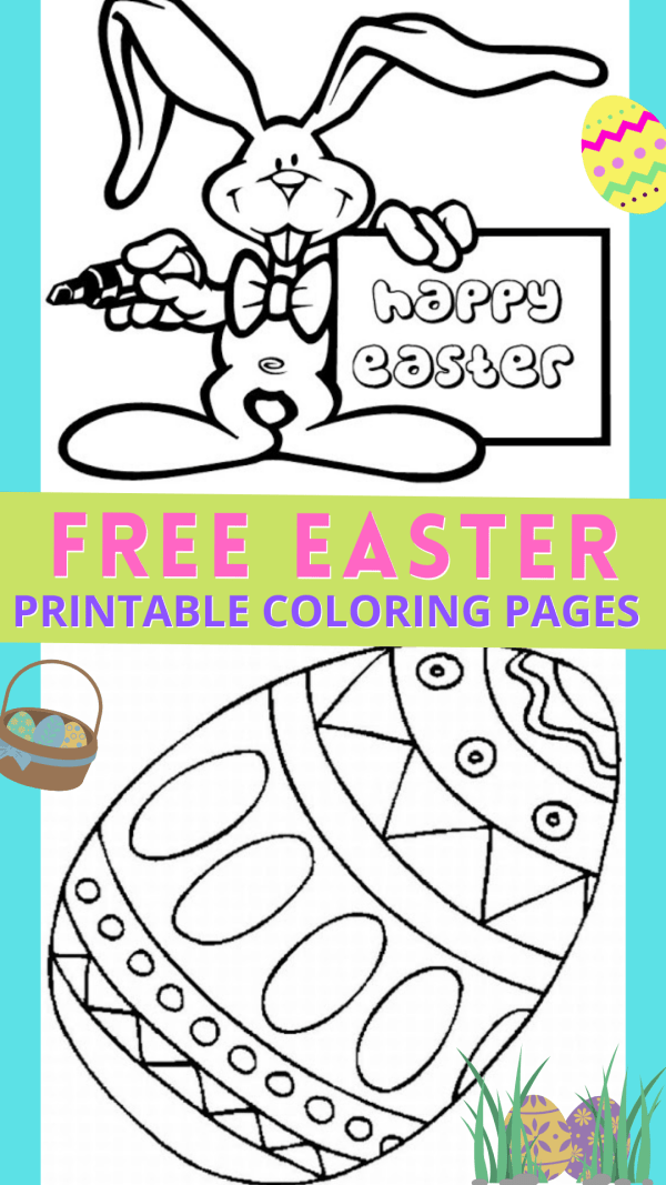 16 Free Easter Printable Coloring Pages for Kids