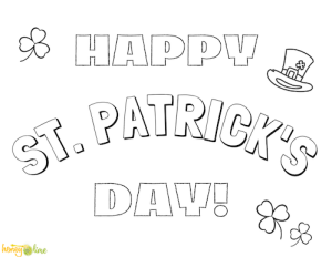 Happy St. Patrick's Day coloring page printable - Honey and Lime