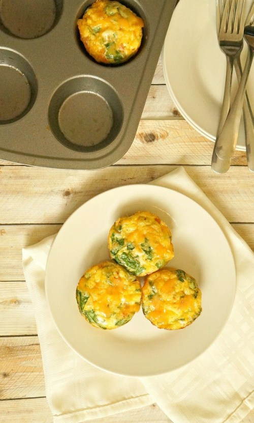 Healthy Turkey Bacon, Egg and Vegetable Mini Frittatas