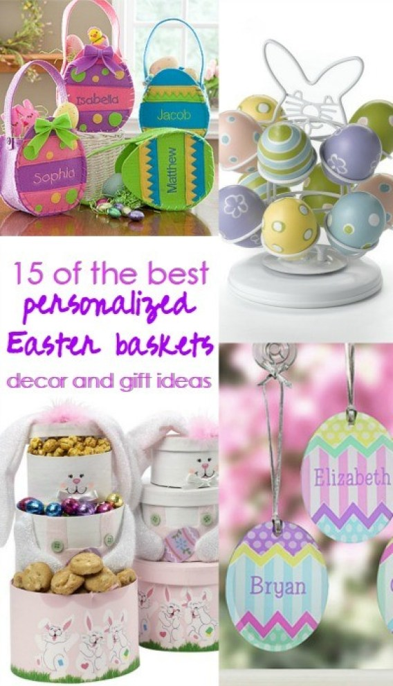 15 of the best personalized Easter baskets, home decor and gift ideas!