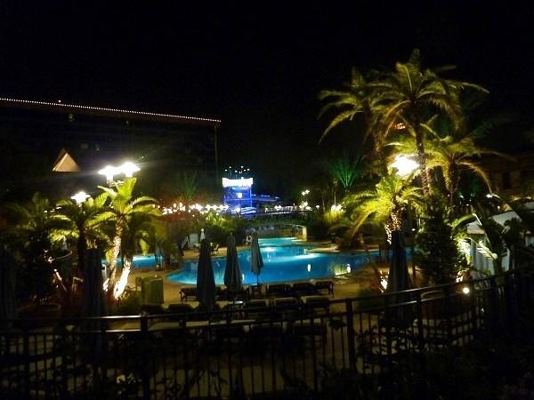 Disneyland Hotel Pool at Night