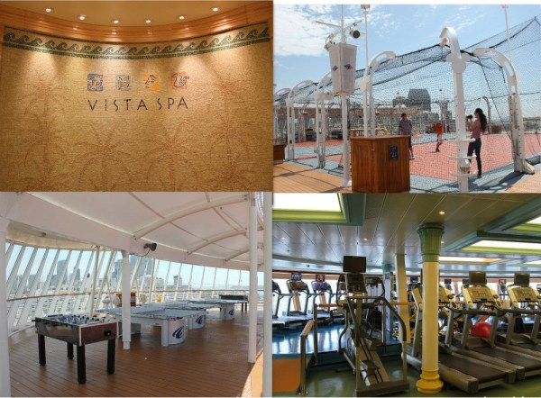 Disney Wonder Spa, Fitness Center and Activities