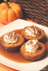 Caramel pumpkin cheesecake bites recipe