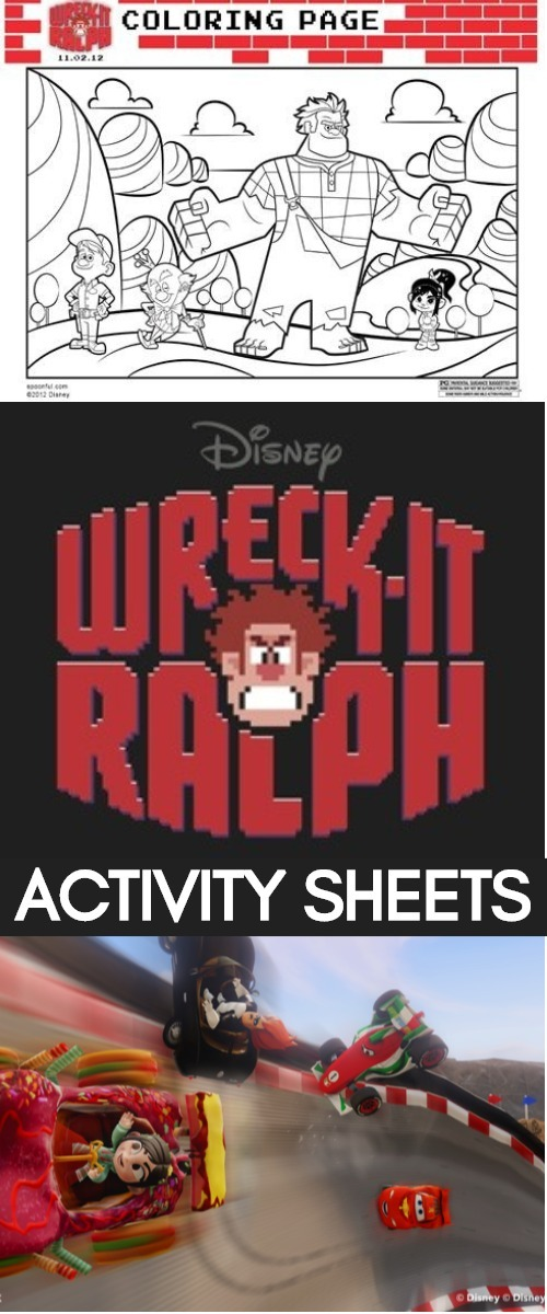 Disney's Wreck It Ralph Activity Sheets_ In Theaters November 2