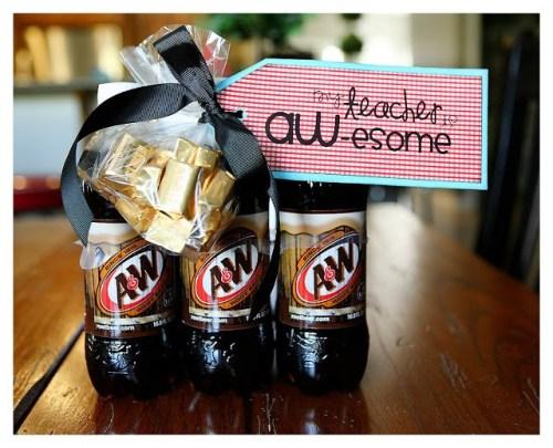 DIY Teacher Appreciation Gifts - A&W Root Beer